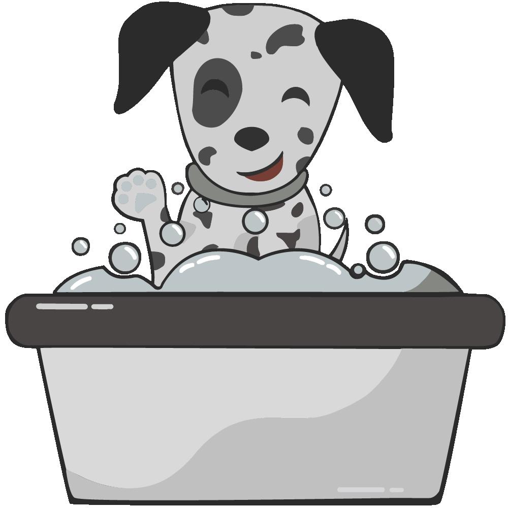 cane in vaschetta; Lovely dog toelettatura